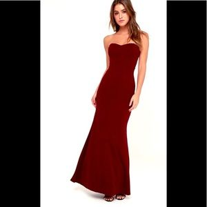 NWT Lulus Stand In the Spotlight Strapless Dress!